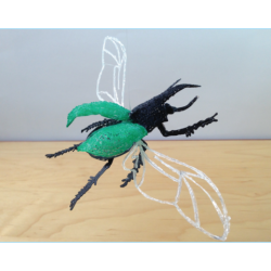 Жук-носорог - шаблон трафарет для 3Д ручки