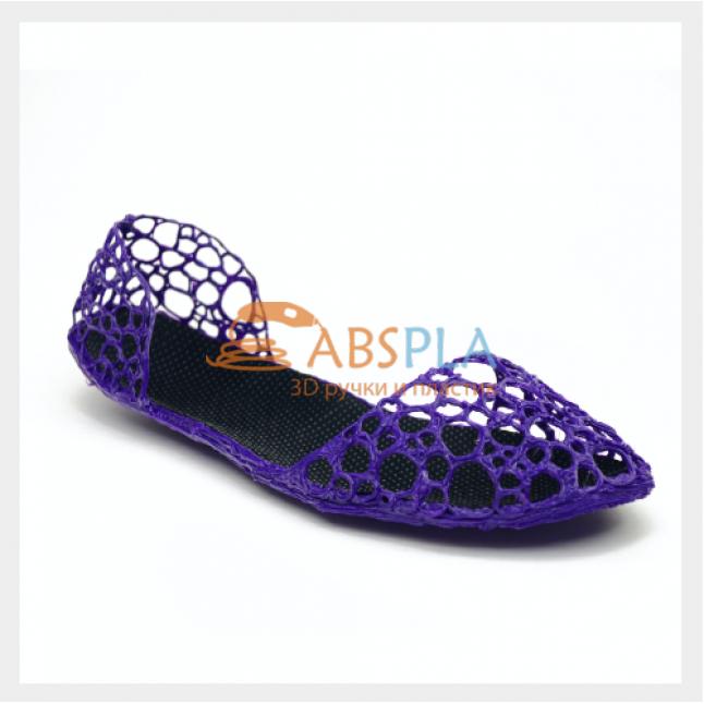 Туфли-балетки - шаблон трафарет для 3Д ручки