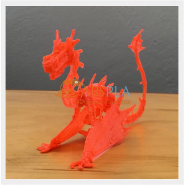 Дракон красный - шаблон трафарет для 3Д ручки