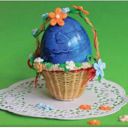Корзинка для пасхального яйца - шаблон трафарет для 3Д ручки