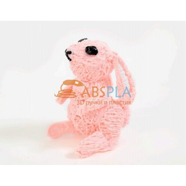 Кролик розовый - шаблон трафарет для 3D ручки