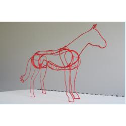 Лошадь и единорог - шаблон трафарет для 3Д ручки