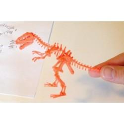 Скелет тираннозавра - шаблон трафарет для 3Д ручки