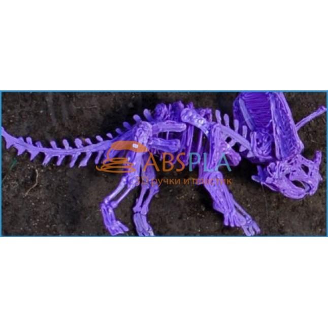 Скелет трицератопса - шаблон трафарет для 3Д ручки