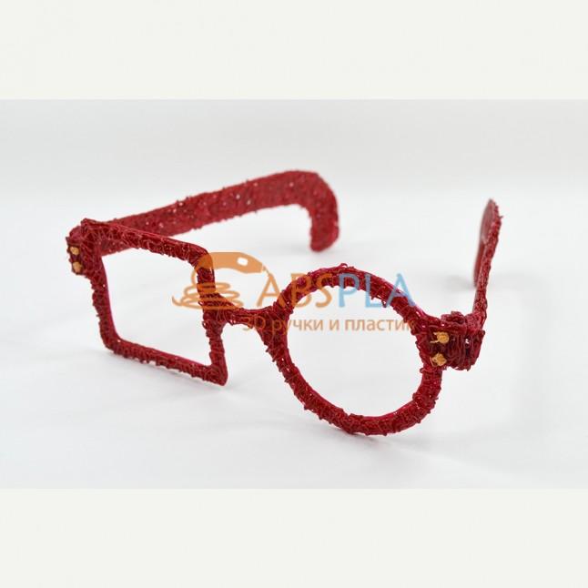 Необычные очки - шаблон трафарет для 3Д ручки