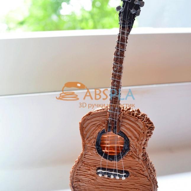 Акустическая гитара - шаблон трафарет для 3Д ручки