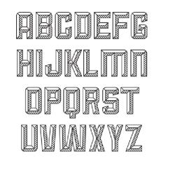 Английский алфавит - шаблон трафарет для 3Д ручки