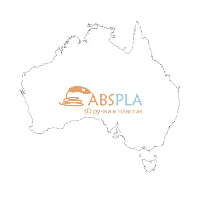 Карта Австралии - шаблон трафарет для 3Д ручки