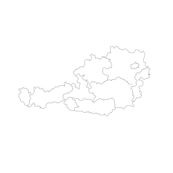 Карта Австрии - шаблон трафарет для 3Д ручки