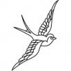 Птица 3 - шаблон трафарет для 3Д ручки