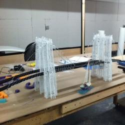 Бруклинский Мост - шаблон трафарет для 3Д ручки
