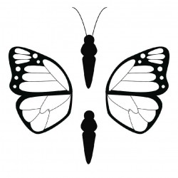Бабочка 4 - шаблон трафарет для 3Д ручки