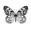 Бабочка 5 - шаблон трафарет для 3Д ручки