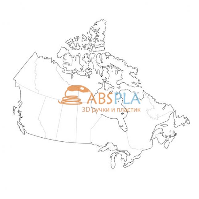 Карта Канады - шаблон трафарет для 3Д ручки