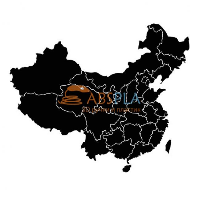 Карта Китая - шаблон трафарет для 3Д ручки