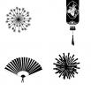 Японские новогодние украшения - шаблон трафарет для 3Д ручки