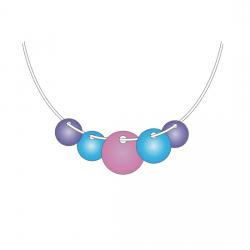 Круглое ожерелье - шаблон трафарет для 3Д ручки