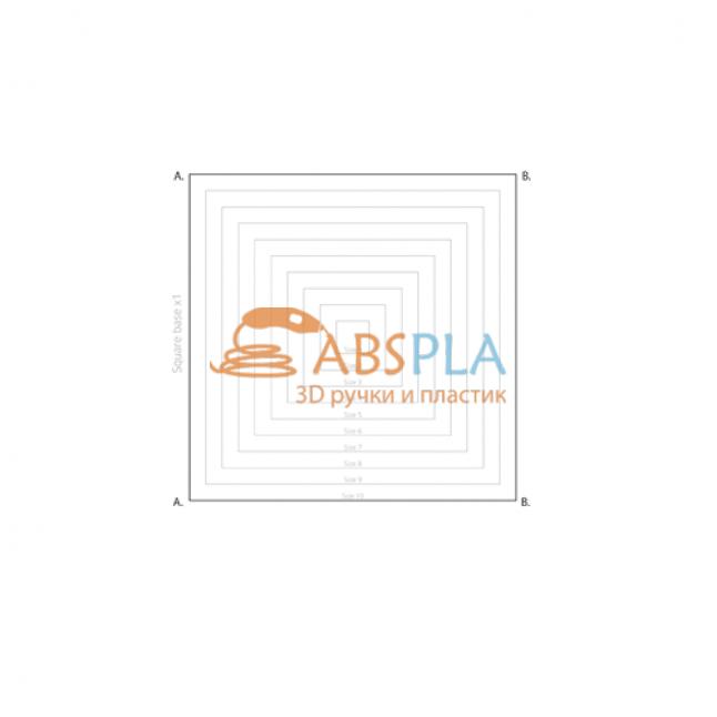 Куб различных размеров - шаблон трафарет для 3Д ручки