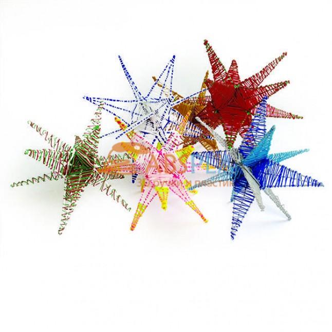 Новогодние звезды - шаблон трафарет для 3Д ручки