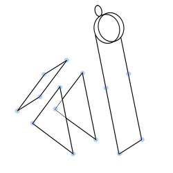 Настольная катапульта - шаблон трафарет для 3Д ручки
