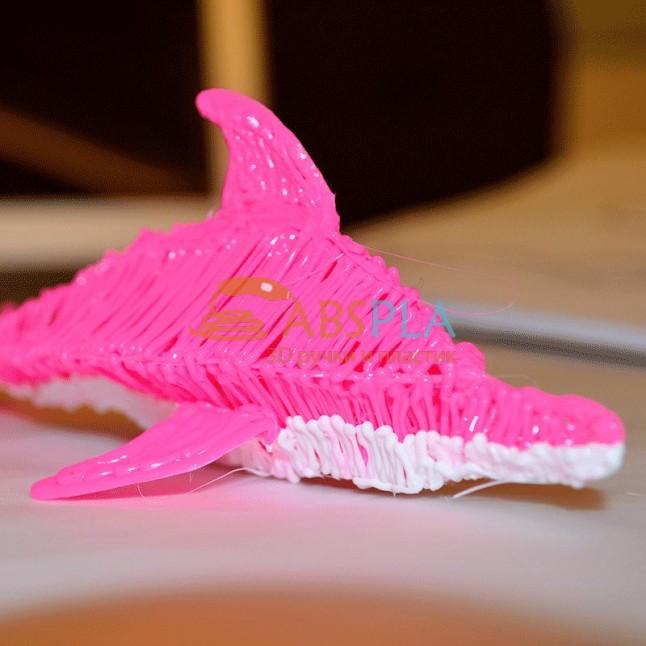 Дельфин - шаблон трафарет для 3Д ручки