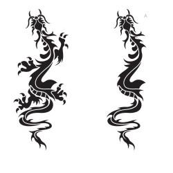 Дракон 2 - шаблон трафарет для 3Д ручки