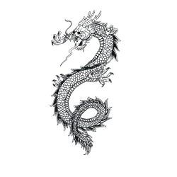 Дракон 3 - шаблон трафарет для 3Д ручки