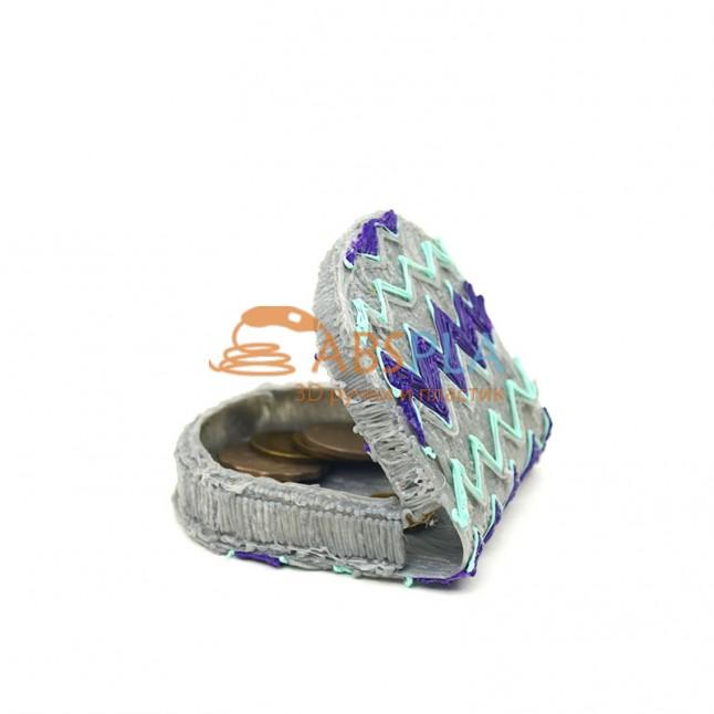 Кошелек для монет - шаблон трафарет для 3Д ручки