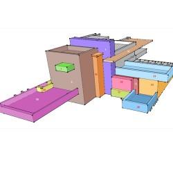 Дом падающей воды - шаблон трафарет для 3Д ручки
