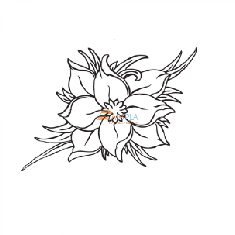 Картинки, цветы картинки шаблоны для 3д ручки
