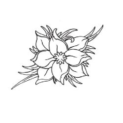 Цветок - шаблон трафарет для 3Д ручки