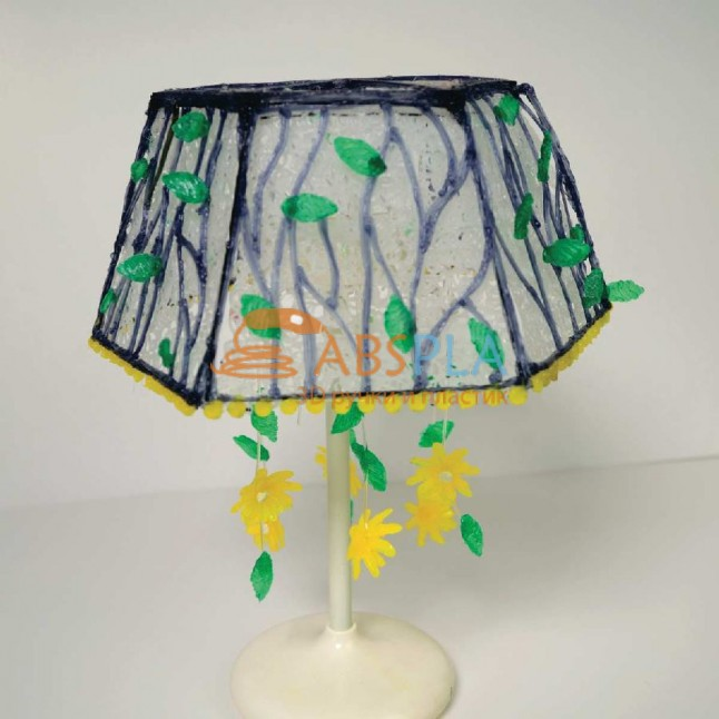 Цветочный абажур - шаблон трафарет для 3Д ручки