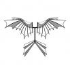 Летающая машина - шаблон трафарет для 3Д ручки