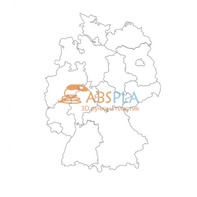 Карта Германии - шаблон трафарет для 3Д ручки