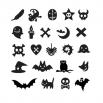 Украшения на хеллоуин - шаблон трафарет для 3Д ручки