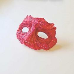 Маска на хеллоуин - шаблон трафарет для 3Д ручки
