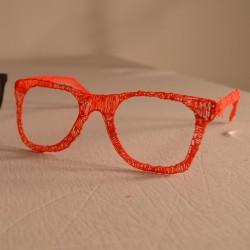 Хипстерские очки - шаблон трафарет для 3Д ручки