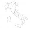 Карта Италии - шаблон трафарет для 3Д ручки