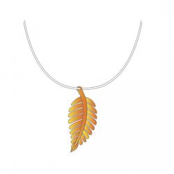 Ожерелье из листьев - шаблон трафарет для 3Д ручки