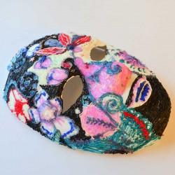 Маскарадная маска - шаблон трафарет для 3Д ручки
