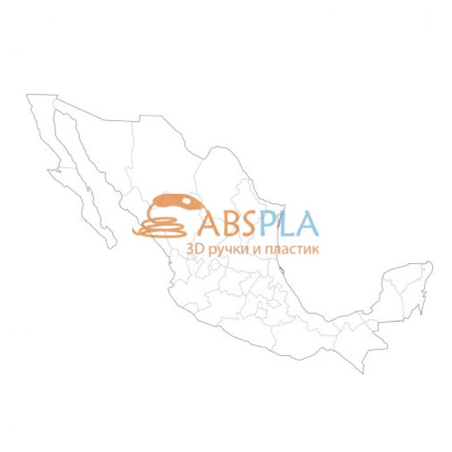 Карта Мексики - шаблон трафарет для 3Д ручки