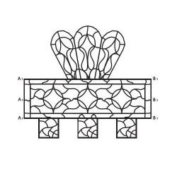 Салфетница 2 - шаблон трафарет для 3Д ручки