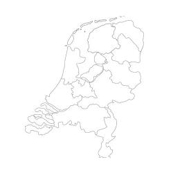 Карта Нидерландов - шаблон трафарет для 3Д ручки