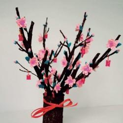Цветущее деревце - шаблон трафарет для 3Д ручки
