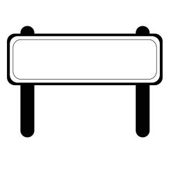 Дорожный знак - шаблон трафарет для 3Д ручки