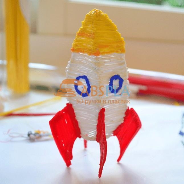 Ракета - шаблон трафарет для 3Д ручки