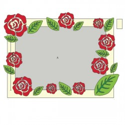 Рамка с розами - шаблон трафарет для 3Д ручки