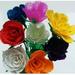 Разноцветные розы - шаблон трафарет для 3Д ручки