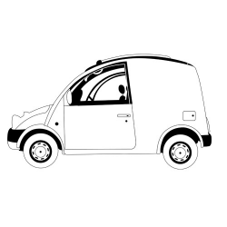 Машинка фургон - шаблон трафарет для 3Д ручки