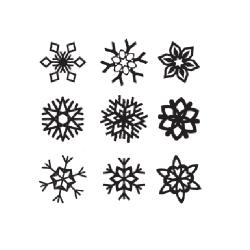 Набор снежинок - шаблон трафарет для 3Д ручки
